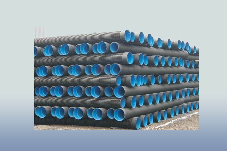 Corrugated Control Cables : Buried cable reinforced corrugated pipe production